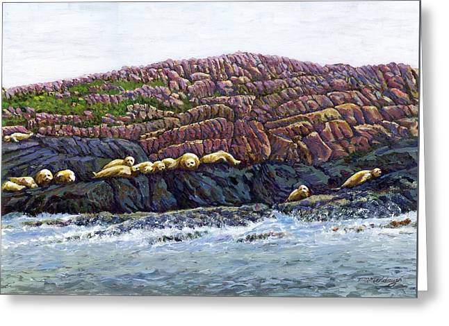 Seal Island Greeting Card by Thomas Michael Meddaugh
