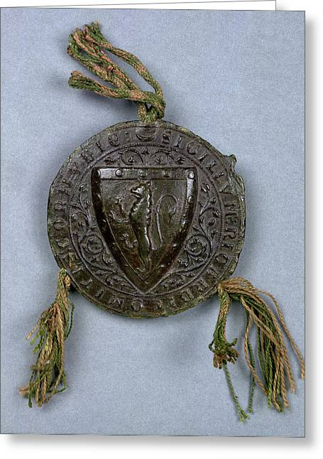 Seal Of Richard Of Cornwall Greeting Card