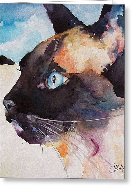 Seal Point Siamese Cat Greeting Card
