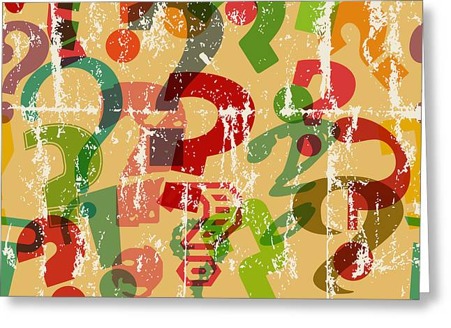 Seamless Background Pattern With Greeting Card by Thomas Bethge