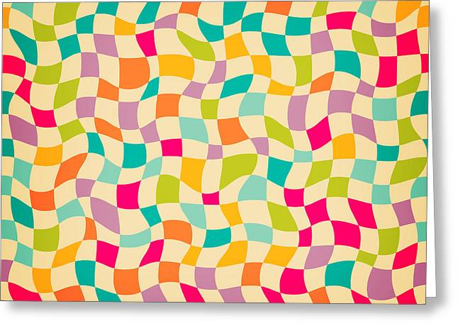 Seamless Color Mosaic Background Greeting Card by New Line