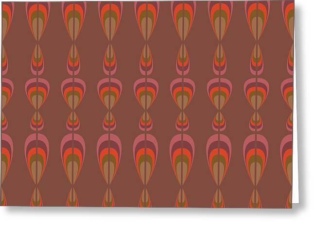 Seamless Geometric Vintage Wallpaper Greeting Card