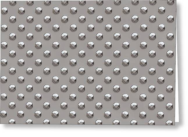 Seamless Metal Texture Rhombus Shapes 2 Greeting Card