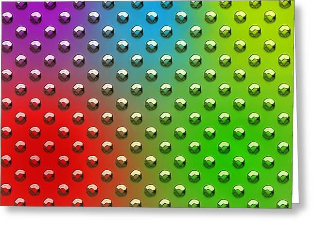 Seamless Metal Texture Rhombus Shapes Coloring Greeting Card