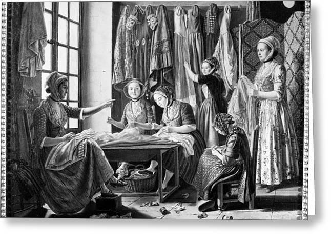 Seamstresses, C1810 Greeting Card by Granger