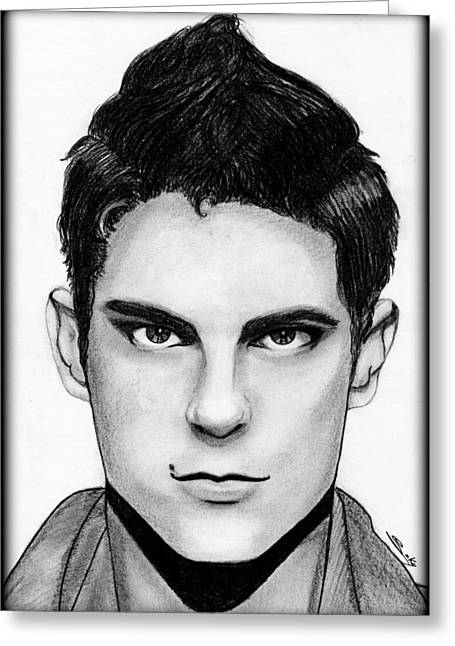 Sean Faris Greeting Card by Saki Art