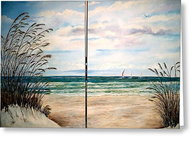 Seaoats On The Beach Greeting Card