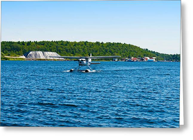 Seaplane In The Sea, Deep Bay, Parry Greeting Card by Panoramic Images