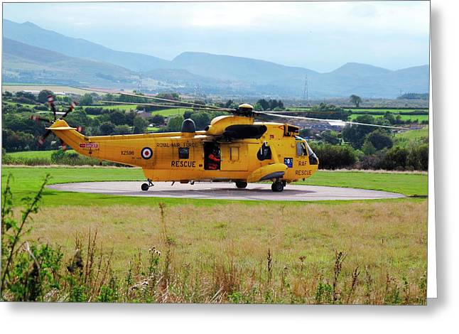 Search And Rescue Helicopter Greeting Card by Cordelia Molloy