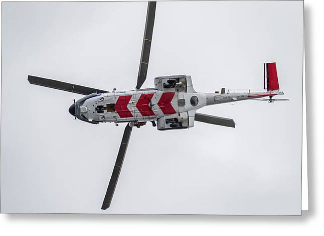 Search And Rescue Helicopter - Tf-lif Greeting Card by Panoramic Images