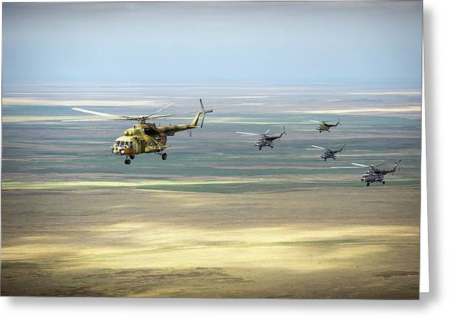 Search And Rescue Helicopters Greeting Card by Nasa/bill Ingalls