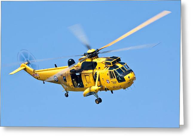 Search And Rescue Sea King Greeting Card