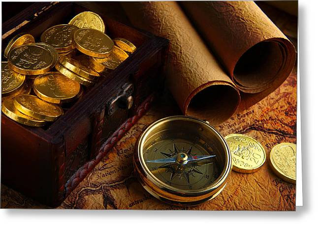Searching For The Gold Treasure Greeting Card by Gianfranco Weiss
