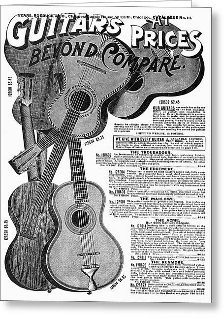 Sears Ad Guitars, 1902 Greeting Card by Granger