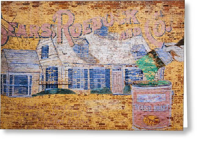 Sears And Roebuck Old Brick Ad Greeting Card