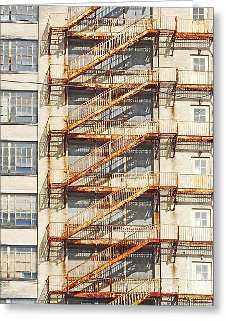 Sears Crosstown Fire Escape Memphis Tn Greeting Card