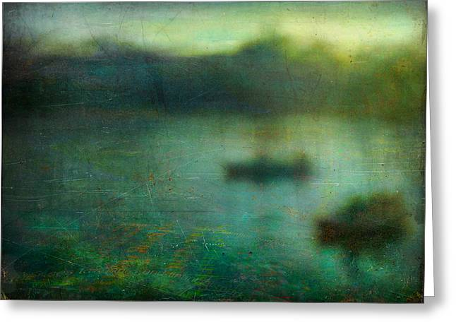 Seascape #23. Retreat Pond Greeting Card by Alfredo Gonzalez