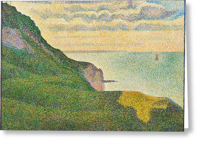 Seascape At Port-en-bessin Greeting Card by Georges Seurat
