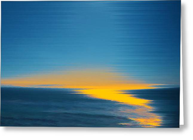 Seascape At Sunset Greeting Card by Ben and Raisa Gertsberg