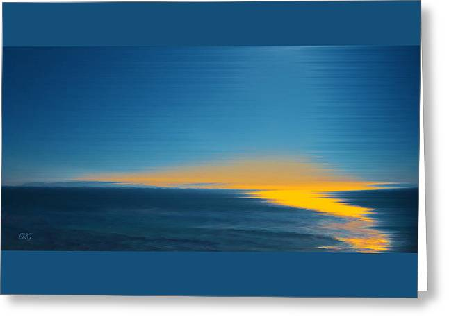 Seascape At Sunset Greeting Card
