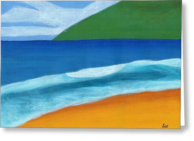 Seascape Greeting Card by Bav Patel