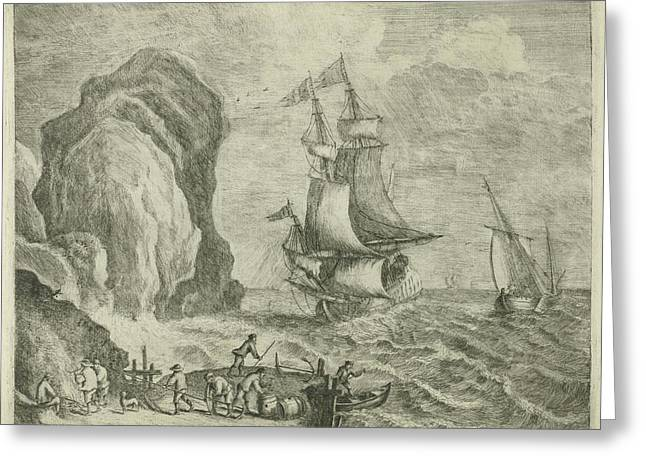Seascape, François Deroy, Monsieur Reps Greeting Card