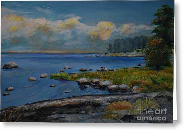 Seascape From Hamina 2 Greeting Card