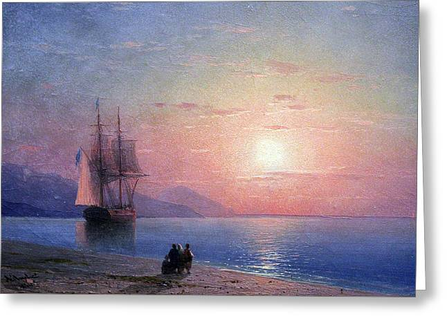 Seascape Greeting Card by Ivan Konstantinovich Aivazovsky