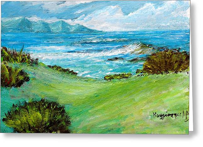 Seascape Greeting Card by Mauro Beniamino Muggianu