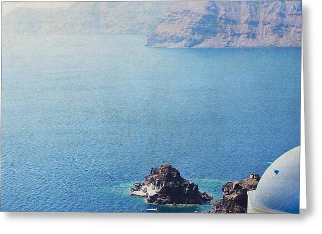 Greeting Card featuring the photograph Seascape - Santorini by Lisa Parrish