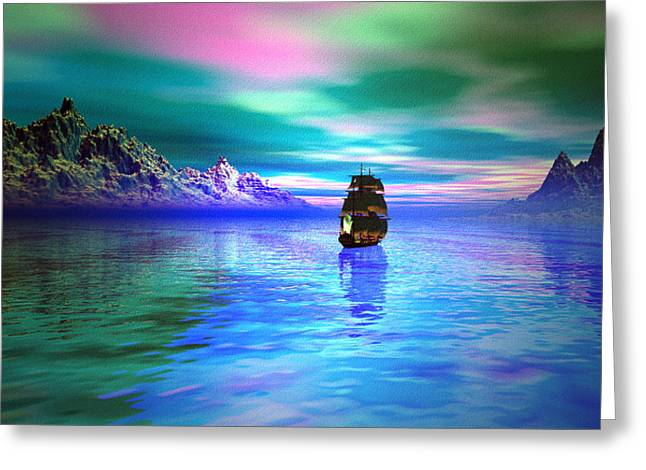 Seascape Greeting Card by Tyler Robbins