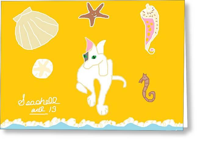 Seashell Greeting Card by Anita Dale Livaditis