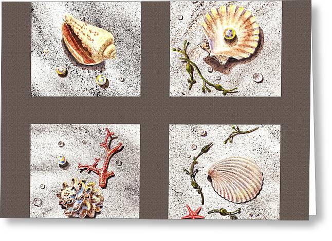 Seashell Collection IIi Greeting Card by Irina Sztukowski