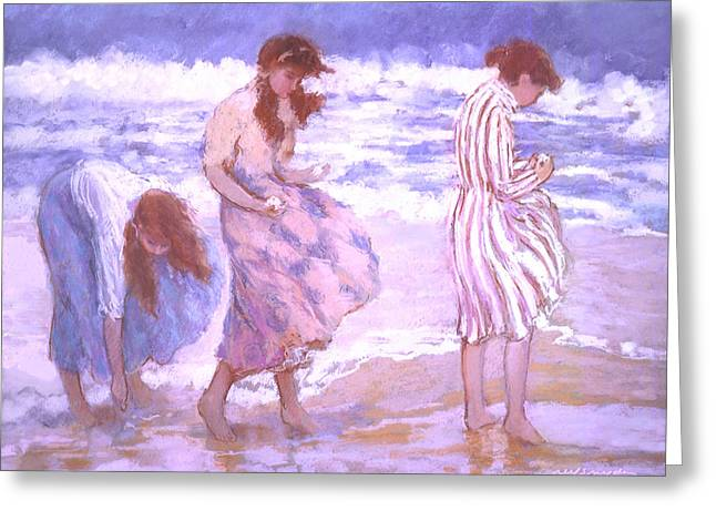 Seashell Maidens Greeting Card by J Reifsnyder