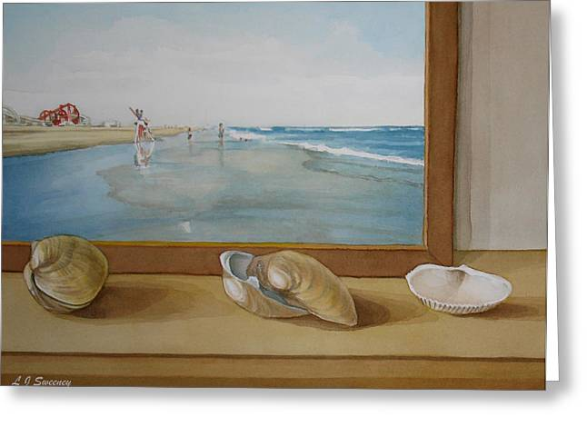 Seashells By The Jersey Shore Greeting Card by Lauren Sweeney