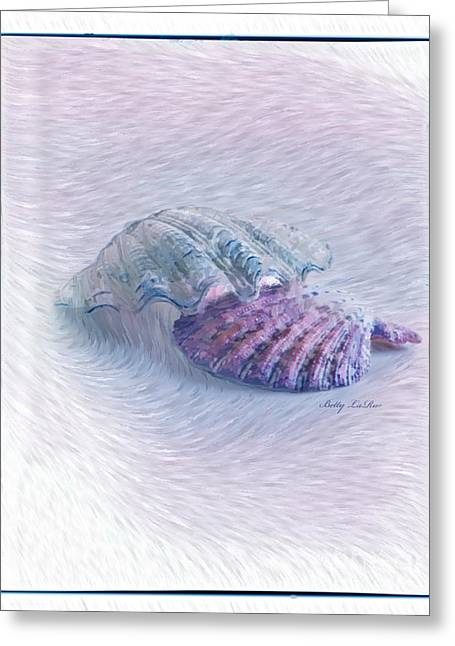 Seashells In Purple Greeting Card by Betty LaRue