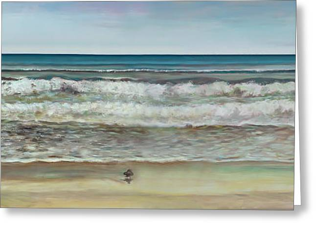 Seashore Ocean Panorama Greeting Card by Jennifer Lycke