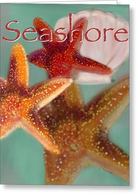 Seashore Poster Greeting Card by Christine Fournier