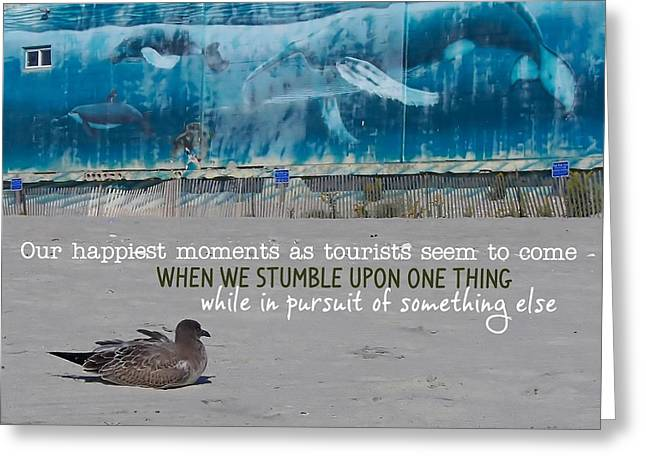Seaside Art Gallery Quote Greeting Card by JAMART Photography