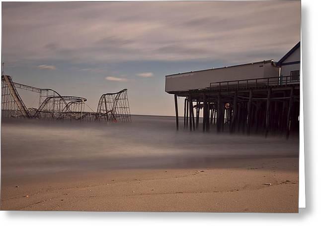 Seaside Carnage Greeting Card by Richard Zoeller