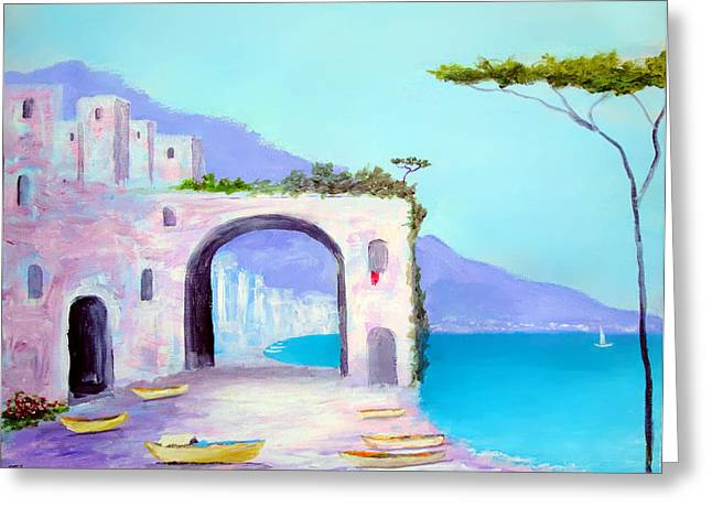 Seaside Colors Of Southern Italy Greeting Card