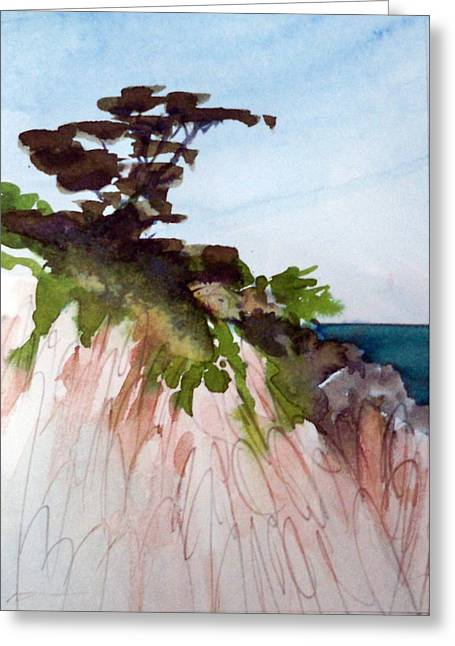Greeting Card featuring the painting Seaside by Ed  Heaton