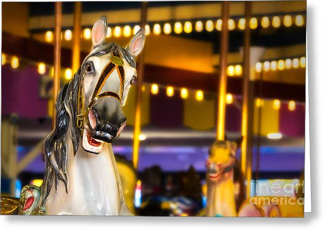 Seaside Heights Carousel Greeting Card by Jerry Fornarotto