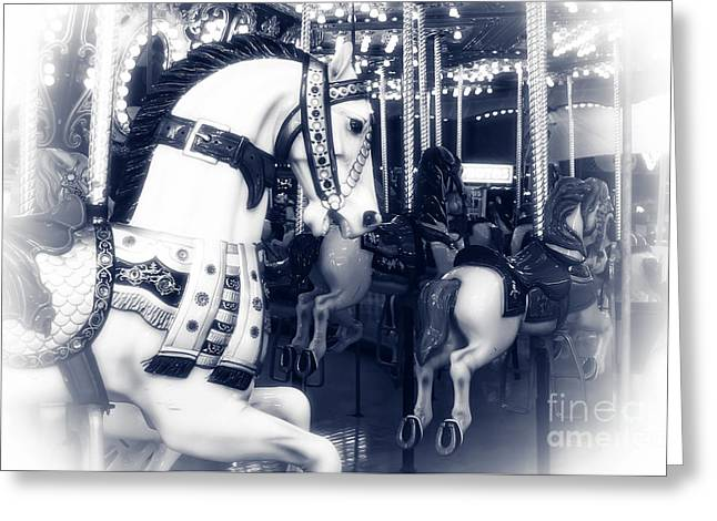 Seaside Heights Carousel Greeting Card by John Rizzuto