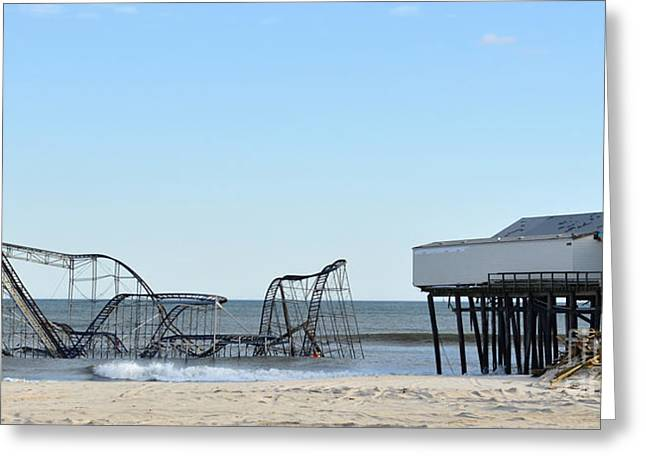 Seaside Heights Jetstar Greeting Card by Sami Martin