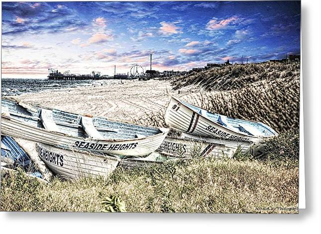 Seaside Heights Life Boats Greeting Card by Jessica Cirz