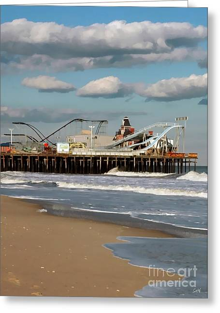 Seaside Heights Roller Coaster 2 Greeting Card