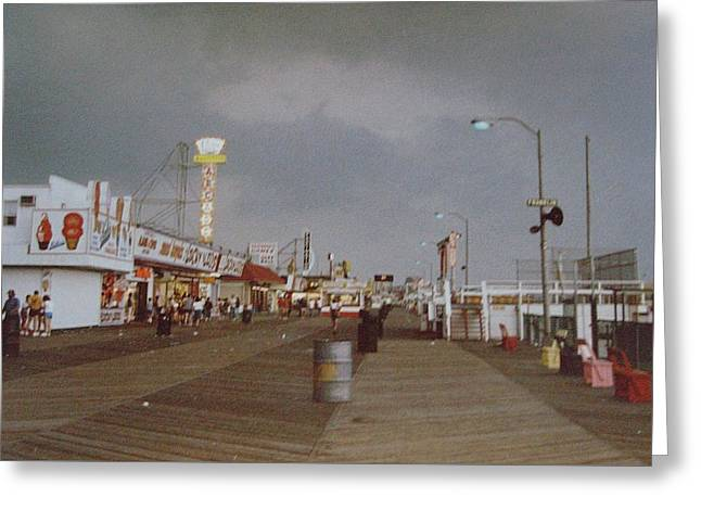 Seaside Heights Storm Greeting Card by Joann Renner