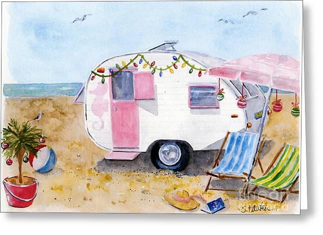 Seaside Holiday Greeting Card by Sheryl Heatherly Hawkins