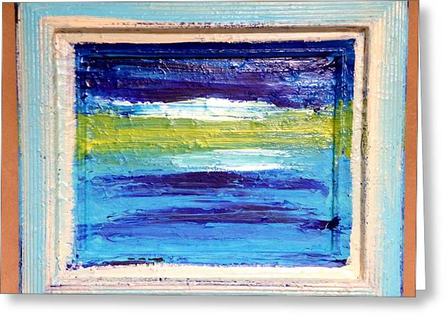 Seaside II Greeting Card by Anna Villarreal Garbis